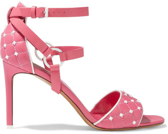 Valentino Free Rockstud Spike Quilted Leather Sandals