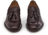 Reiss Reiss Pete - Leather Tasselled Loafers In Black