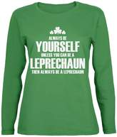 Old Glory St. Patricks Day Always Be Yourself Leprechaun Womens Long Sleeve T-Shirt - 2X-Large