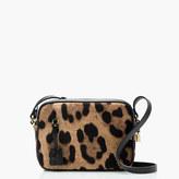 J.Crew Signet bag in Italian leopard-printed calf hair