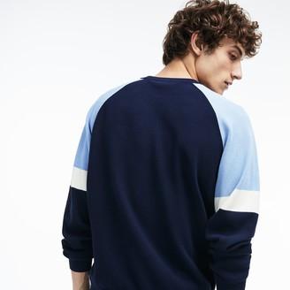 Lacoste Men's Crew Neck Raglan Sleeved Sweater