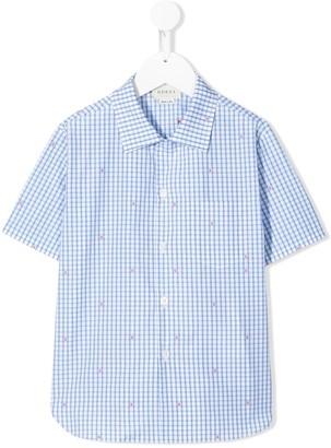 Gucci Kids Gingham Checked Shirt