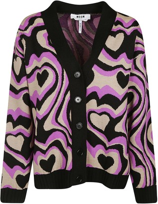 MSGM Heart Patterned Cardigan
