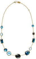 """Ippolita 18K Rock Candy Mixed-Set Necklace in Steel Blue, 18"""""""