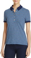 Tory Burch Striped Lace Polo Shirt