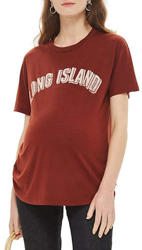 Topshop MATERNITY Long Island Motif T-Shirt