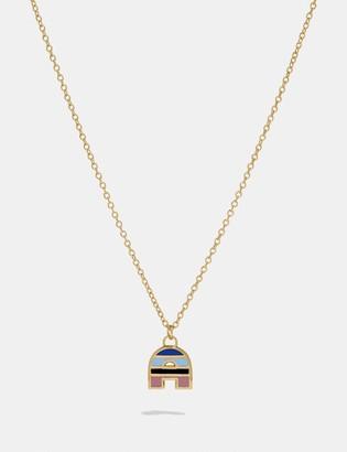 Coach 80'S Retro Alphabet A Charm Necklace