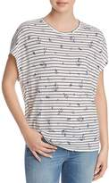 Joie Riker Stripe-and-Floral Tee
