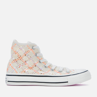 Converse Chuck Taylor All Star Hi-Top Trainers - Egret/Multi/Black