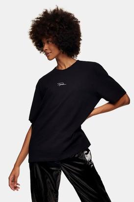 Topman Womens Signature Black T-Shirt - Black