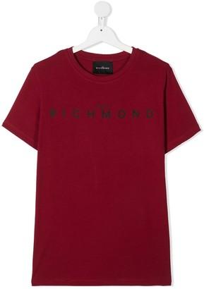 John Richmond Junior TEEN logo-print cotton T-shirt