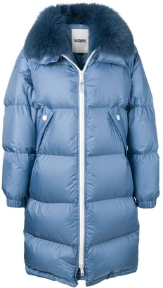 Yves Salomon Oversized Fur-Trimmed Coat