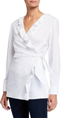 Finley Courtney Ruffled Side-Tie Blouse
