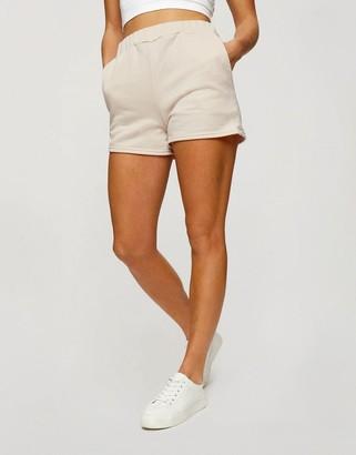 Miss Selfridge Active elastic runner shorts in ecru