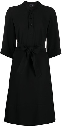A.P.C. Tie-Waist Shirt Dress