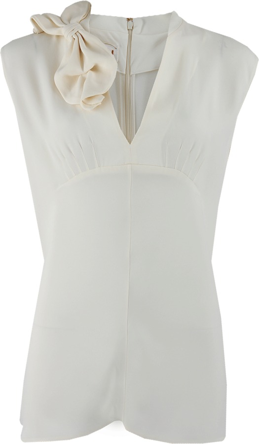 Marni Sleeveless V-Neck Kimono Back Zip Top