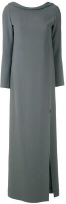 Gloria Coelho Slit Long Dress
