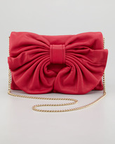 RED Valentino Bow Clutch Shoulder Bag, Cherry