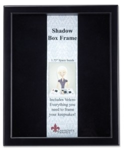 """Lawrence Frames 790011 Black Wood Shadow Box Picture Frame - 11"""" x 14"""""""