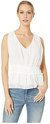 Bishop + Young Swiss Dot Tank (White) Women's Blouse