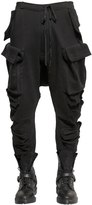 Unravel Multi Pockets Cotton Fleece Cargo Pants