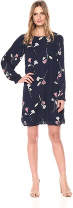 Vero Moda Women's Elena Long Sleeve Floral Short Dress
