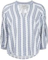 Sea elastic sleeves peasant blouse