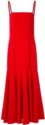 Carolina Herrera Sleeveless Midi Pleated Dress
