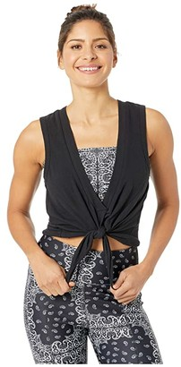 YEAR OF OURS Reversible V Tie Tank (Black) Women's Clothing