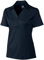 Cutter & Buck Navy Blue DryTec Luxe Element Jacquard Polo