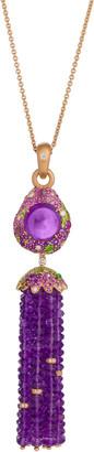 Margot Mckinney Jewelry 18k Rose Gold & Amethyst Tassel Pendant Necklace