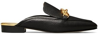 Tory Burch Jessa Leather Horsebit Backless Loafers