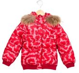 Little Marc Jacobs Girls' Fur-Trimmed Puffer Coat