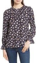 Rebecca Taylor Women's Holly Flower Silk Blouse