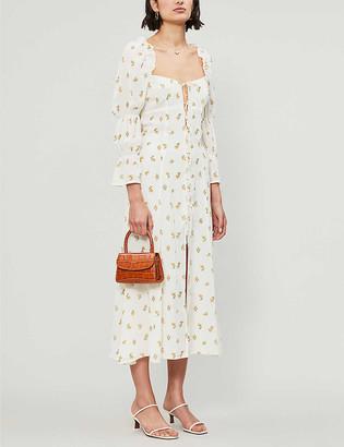 Reformation Roberta floral-print crepe midi dress