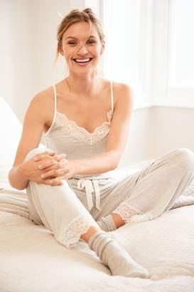 Next Womens Grey Stripe Modal Cami Pyjamas - Grey