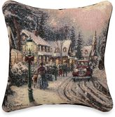 Thomas Laboratories Kinkade Village Christmas Pillow