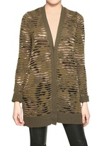 Sequined Cashmere Silk Knit Cardigan