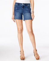 INC International Concepts Embroidered Indigo Wash Denim Shorts, Only at Macy's
