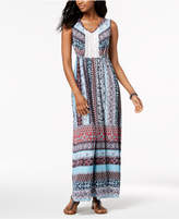 Style&Co. Style & Co Petite Crochet-Panel Maxi Dress, Created for Macy's