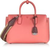 MCM Milla Coral Pink Park Avenue Medium Leather Tote Bag