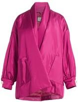 Gucci Tieneck Silk Taffeta Cardigan Puffer Jacket