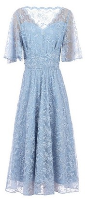 Dorothy Perkins Womens Jolie Moi Blue Lace Midi Dress, Blue