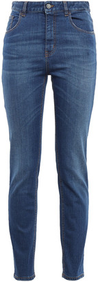 Just Cavalli Embellished High-rise Slim-leg Jeans