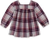 Arizona Plaid Long Sleeve Blouse - Toddler Girls