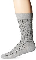 Happy Socks Men's 1 Pack Unisex Combed Cotton Crew-Grey Optic