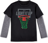 Under Armour Holiday Lights Graphic-Print T-Shirt, Toddler Boys (2T-5T) & Little Boys (2-7)