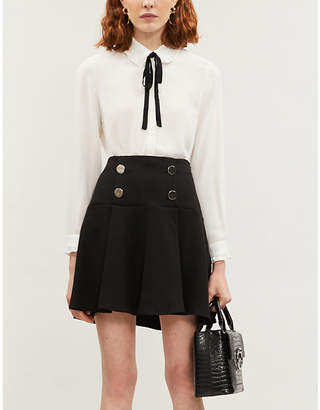 Claudie Pierlot Button-embellished crepe mini skirt