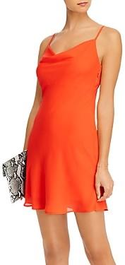 Aqua Cowl Neck Sleeveless Mini Dress - 100% Exclusive