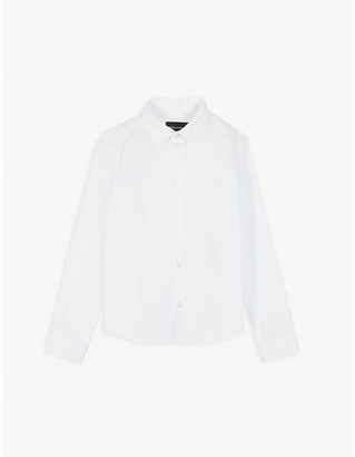 Emporio Armani Long sleeved cotton shirt 4-16 years